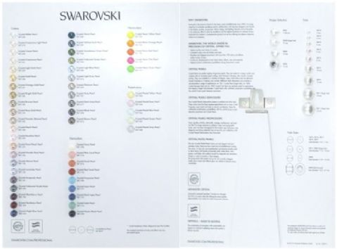 Swarovski 2015 Colour Chart - Pearls - CLEARANCE PRICE